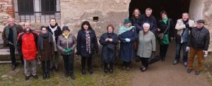 Die Passauer Stadtführer mit den örtlichen Guides im Schlosshof von Vimperk