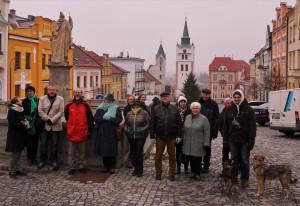 Die Passauer Stadtführer auf dem Marktplatz von Winterberg