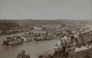 Stadtansicht Emil Wangemann Altstadt ohne Ortspitze mit Niederhaus um 1870
