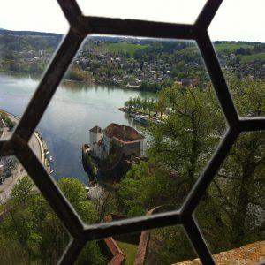 Passaus 3 Flüsse samt Ortsspitze und Veste Niederhaus